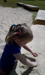 zand spelen